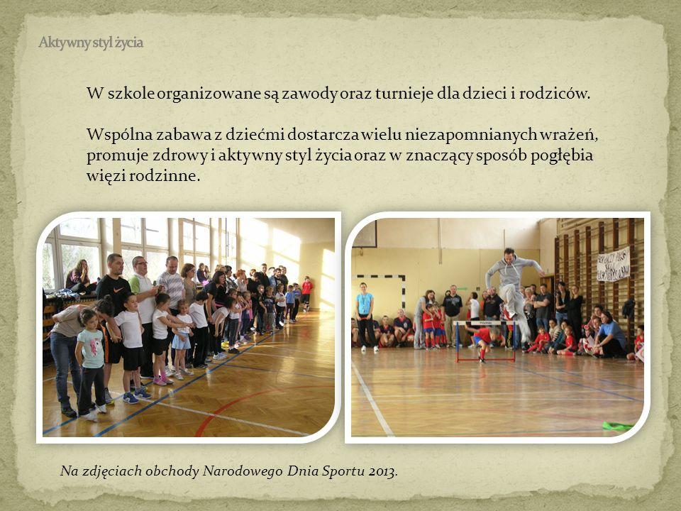 W szkole organizowane są zawody oraz turnieje dla dzieci i rodziców.