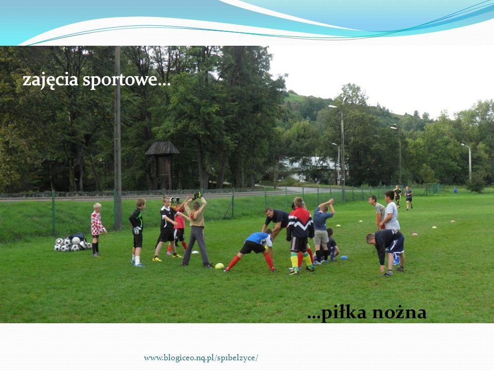 zajęcia sportowe… …piłka nożna www.blogiceo.nq.pl/sp1belzyce/