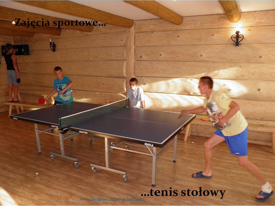 Zajęcia sportowe… …tenis stołowy www.blogiceo.nq.pl/sp1belzyce/