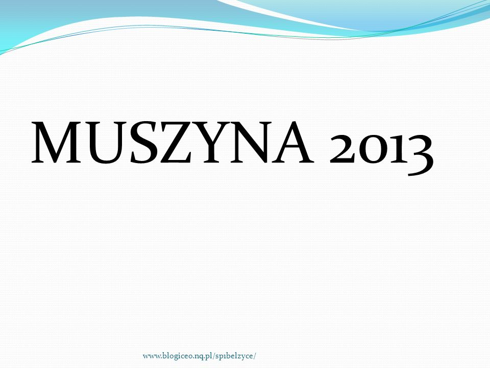 MUSZYNA 2013 www.blogiceo.nq.pl/sp1belzyce/