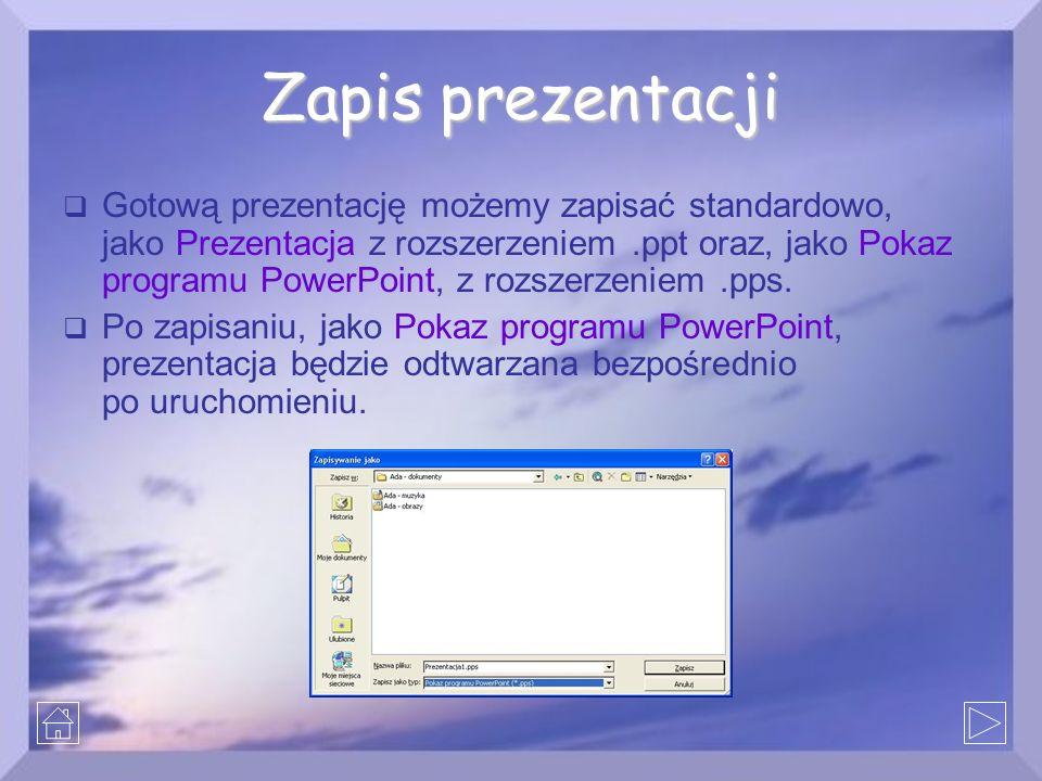 Zapis prezentacji