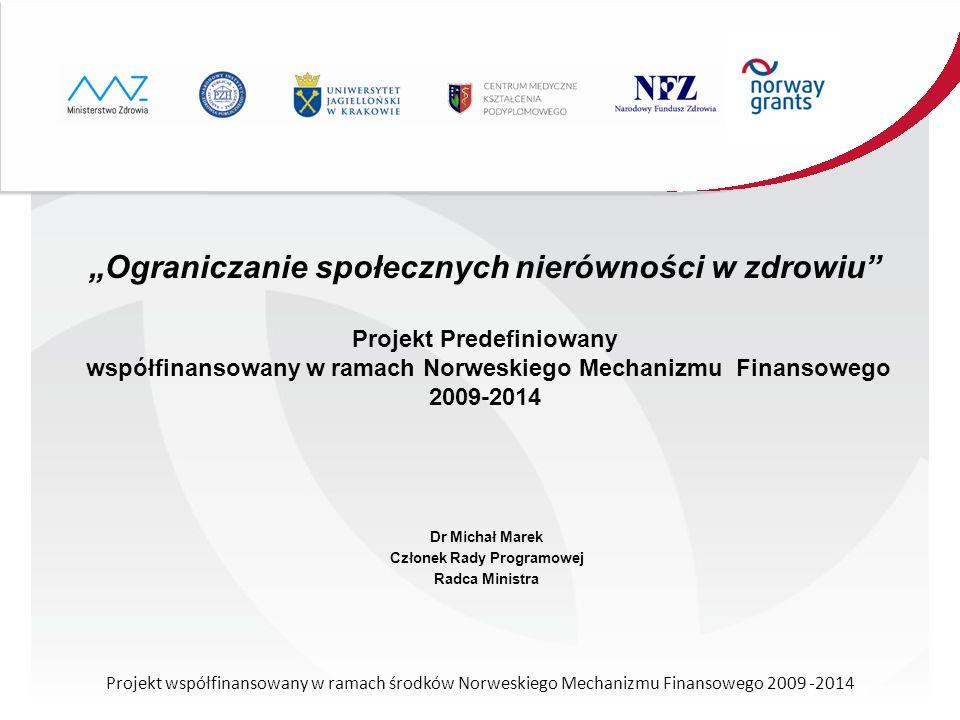 Dr Michał Marek Członek Rady Programowej Radca Ministra