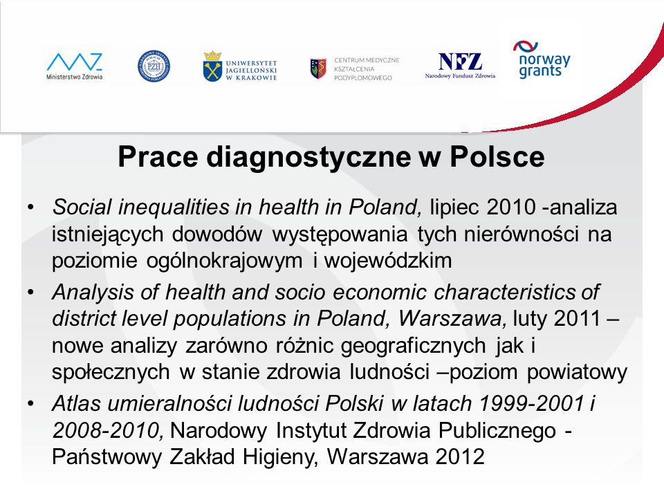 Prace diagnostyczne w Polsce