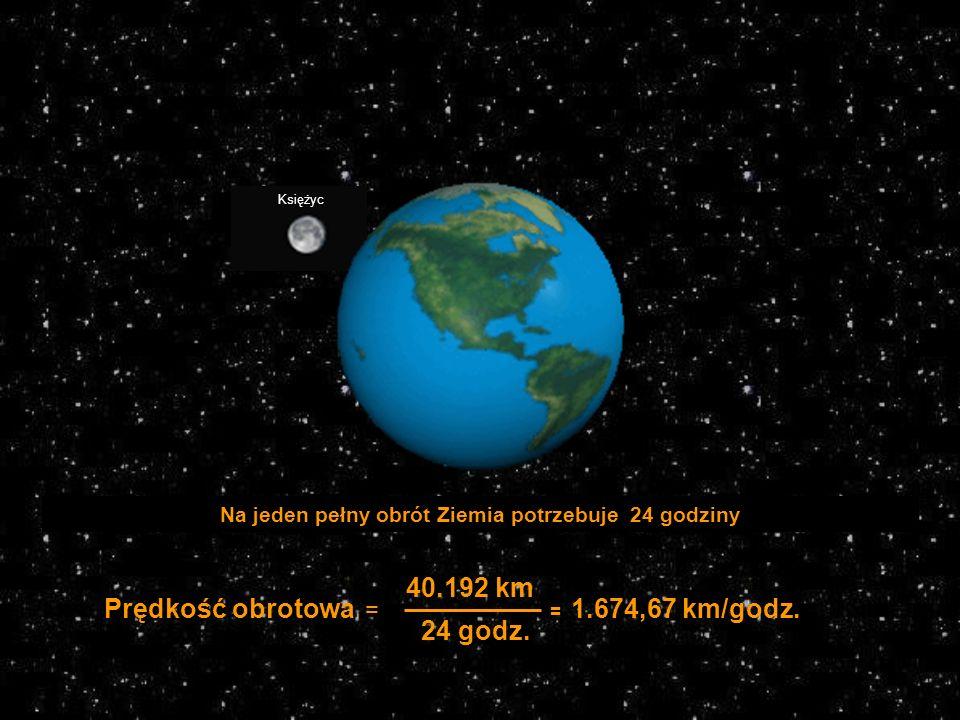 Na jeden pełny obrót Ziemia potrzebuje 24 godziny