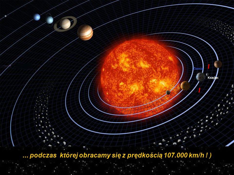 ... podczas której obracamy się z prędkością 107.000 km/h ! )