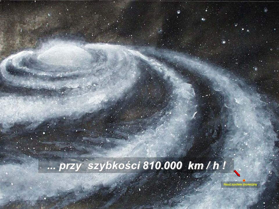 ... przy szybkości 810.000 km / h ! Nasz system słoneczny
