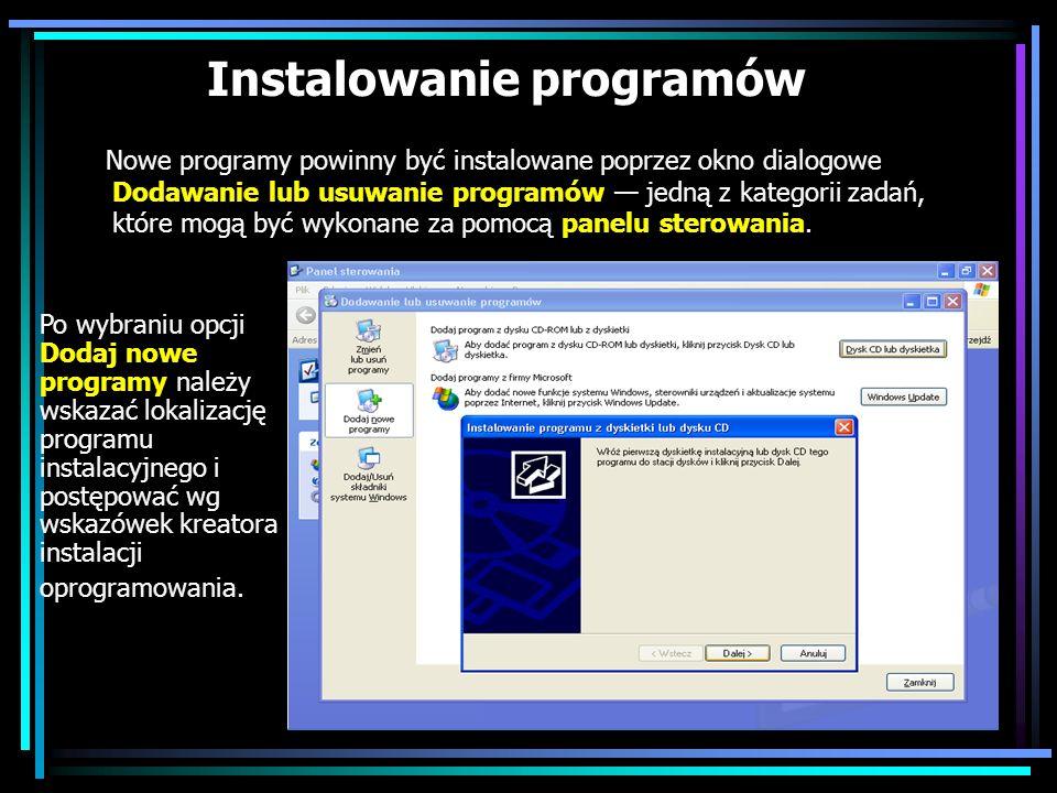 Instalowanie programów