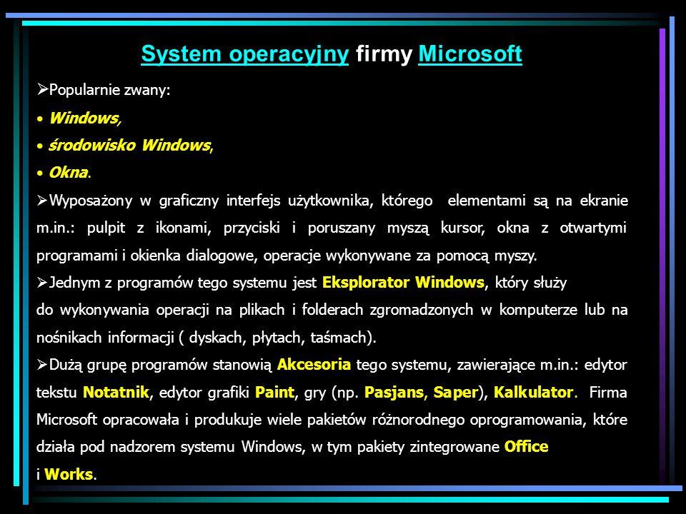 System operacyjny firmy Microsoft