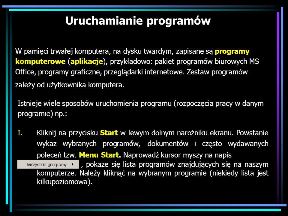 Uruchamianie programów