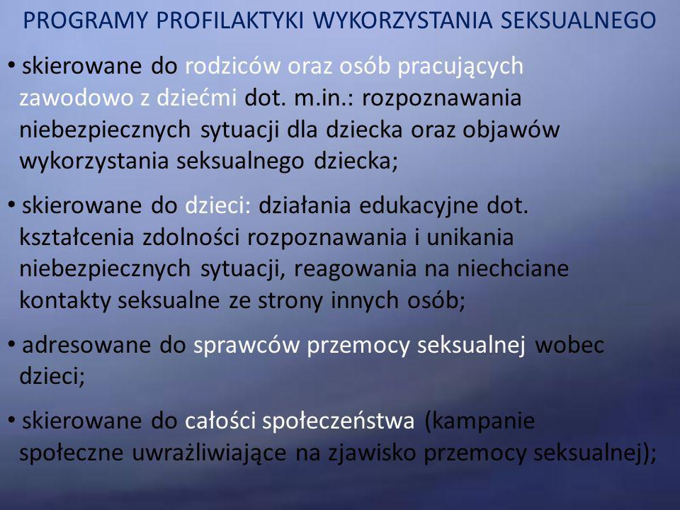 PROGRAMY PROFILAKTYKI WYKORZYSTANIA SEKSUALNEGO