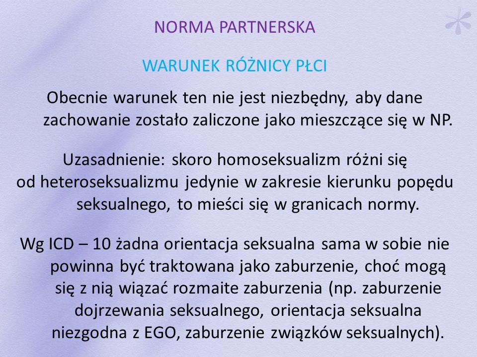 Uzasadnienie: skoro homoseksualizm różni się