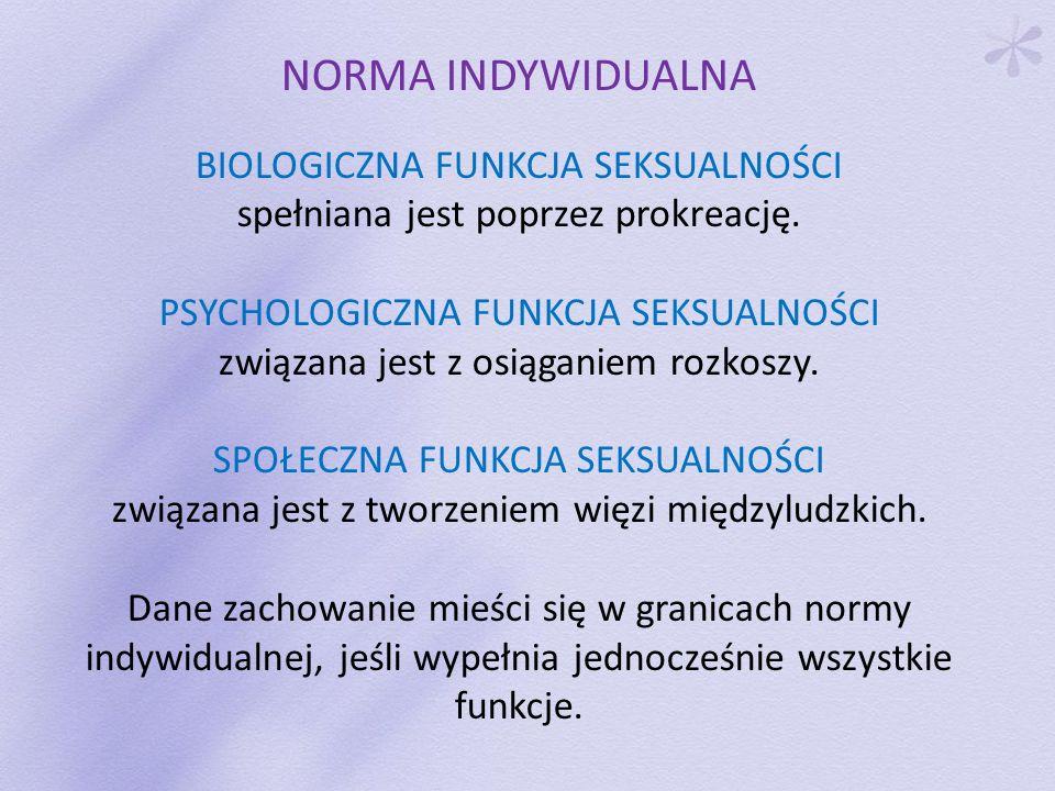 NORMA INDYWIDUALNA BIOLOGICZNA FUNKCJA SEKSUALNOŚCI