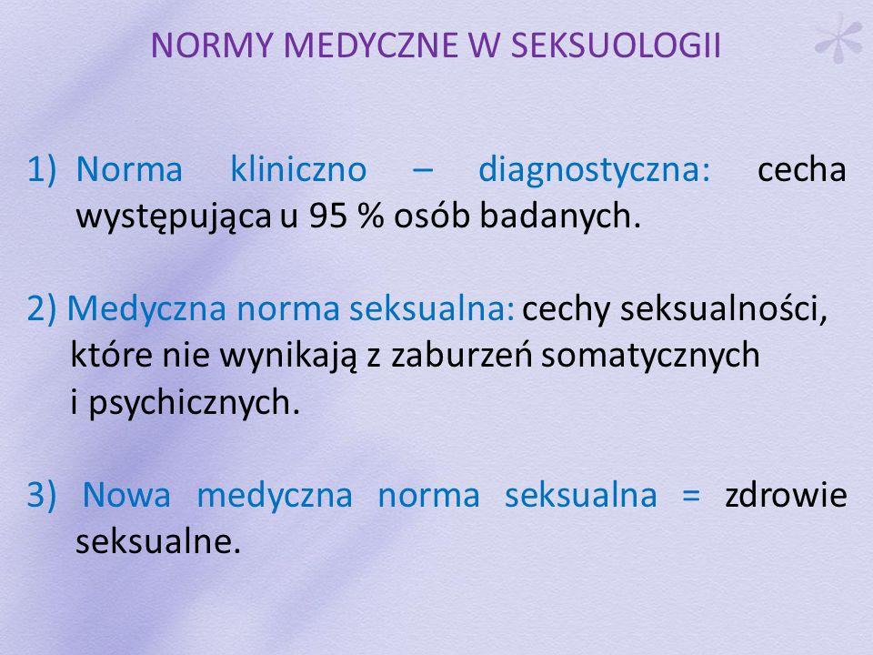 NORMY MEDYCZNE W SEKSUOLOGII