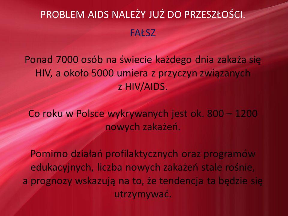 PROBLEM AIDS NALEŻY JUŻ DO PRZESZŁOŚCI. FAŁSZ