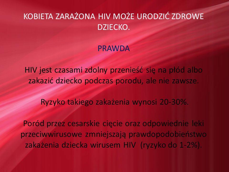 KOBIETA ZARAŻONA HIV MOŻE URODZIĆ ZDROWE DZIECKO.