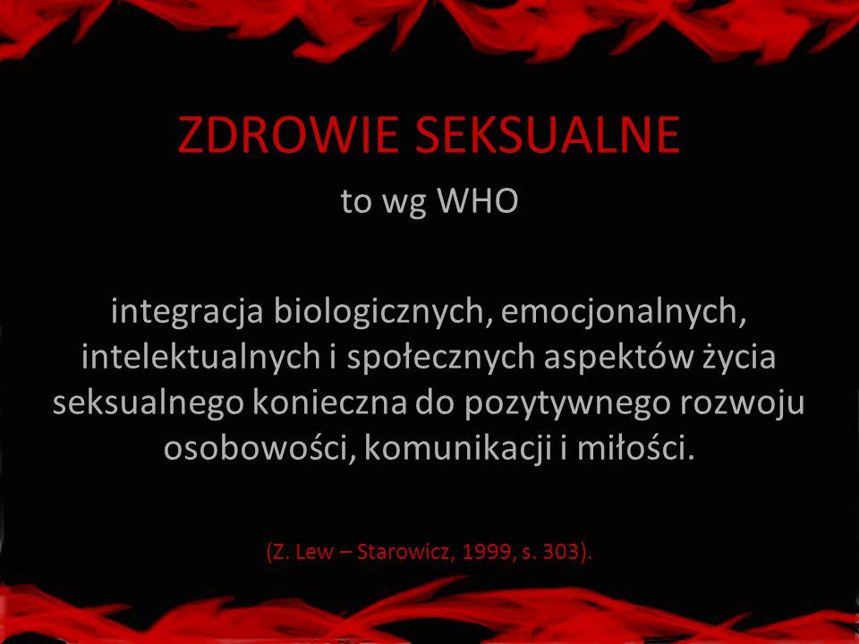ZDROWIE SEKSUALNE to wg WHO