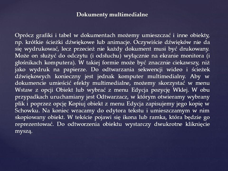 Dokumenty multimedialne