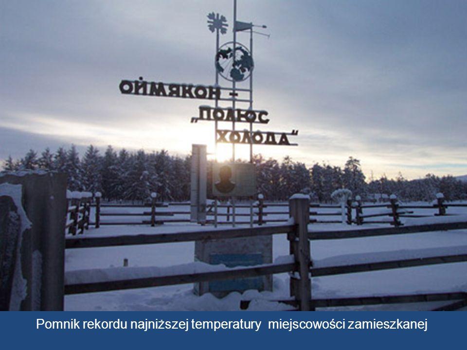 Pomnik rekordu najniższej temperatury miejscowości zamieszkanej