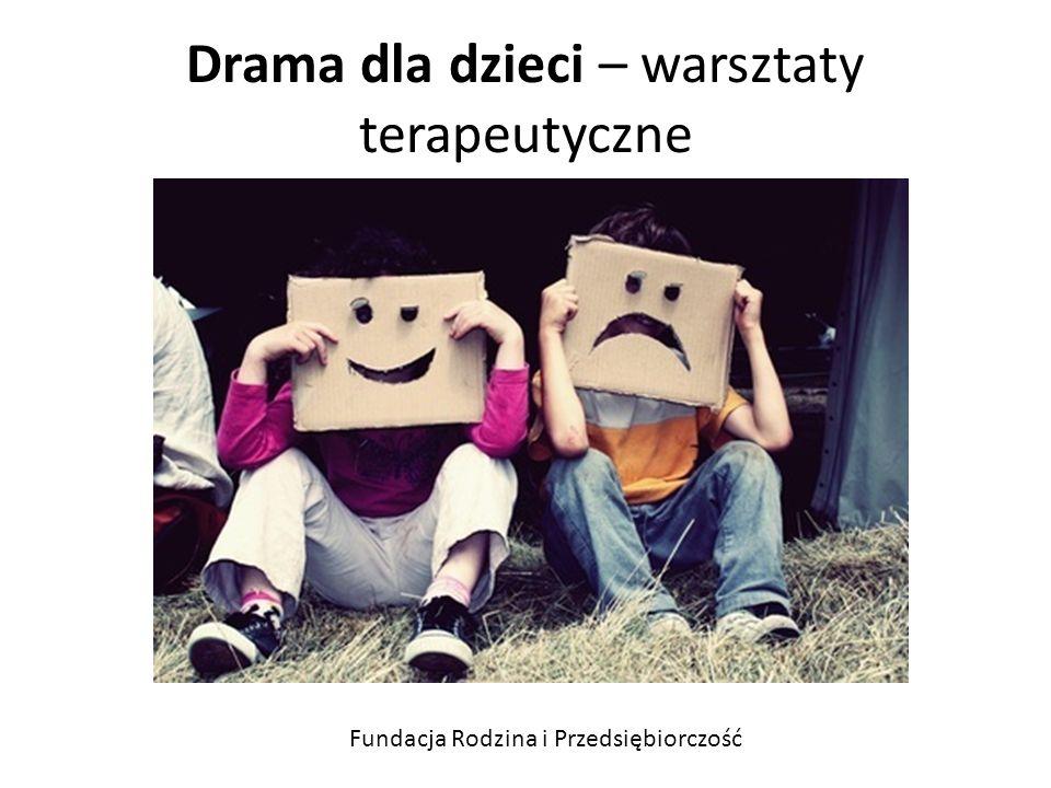 Drama dla dzieci – warsztaty terapeutyczne