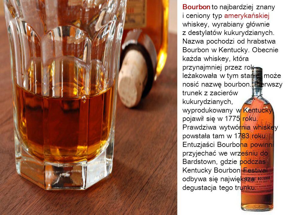 Bourbon to najbardziej znany i ceniony typ amerykańskiej whiskey, wyrabiany głównie z destylatów kukurydzianych.