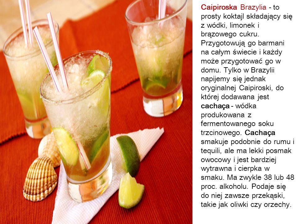 Caipiroska Brazylia - to prosty koktajl składający się z wódki, limonek i brązowego cukru.