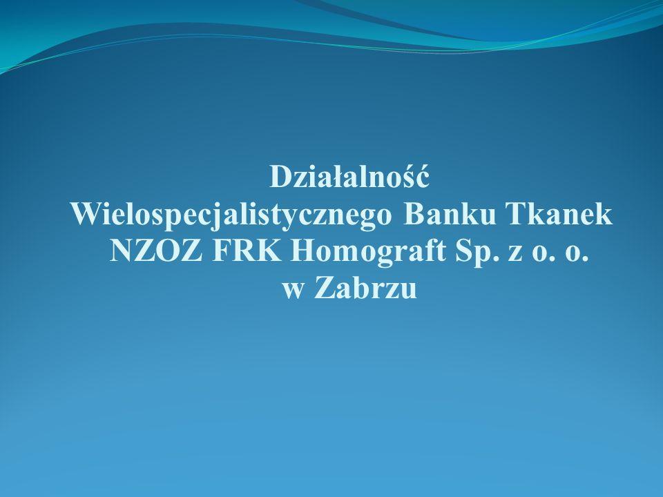 Wielospecjalistycznego Banku Tkanek NZOZ FRK Homograft Sp. z o. o.