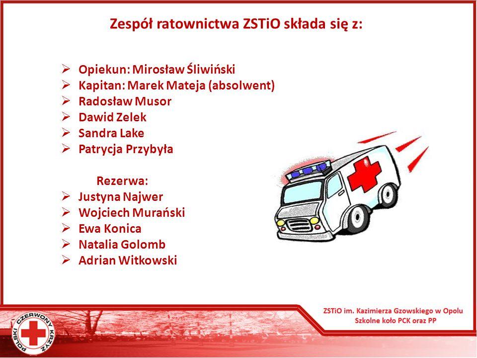 Zespół ratownictwa ZSTiO składa się z:
