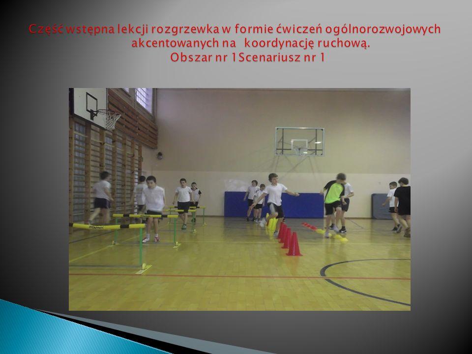 Część wstępna lekcji rozgrzewka w formie ćwiczeń ogólnorozwojowych