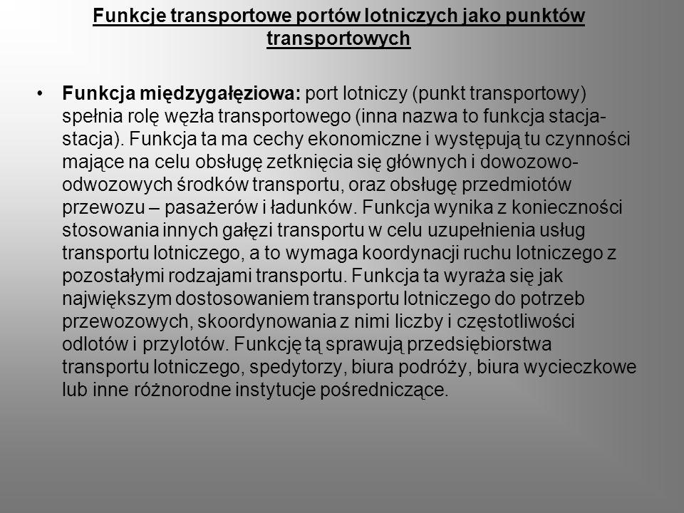 Funkcje transportowe portów lotniczych jako punktów transportowych