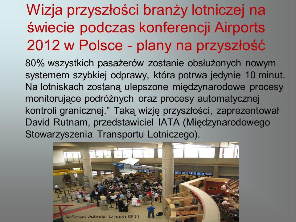 Wizja przyszłości branży lotniczej na świecie podczas konferencji Airports 2012 w Polsce - plany na przyszłość