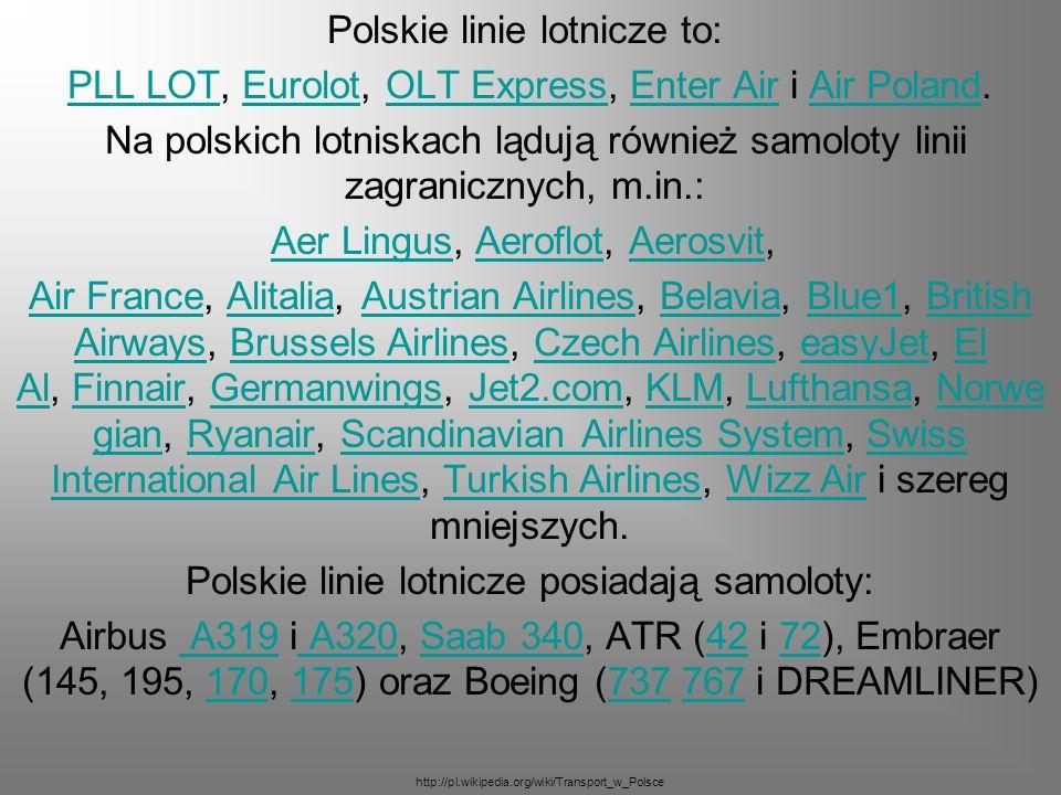 Polskie linie lotnicze to: