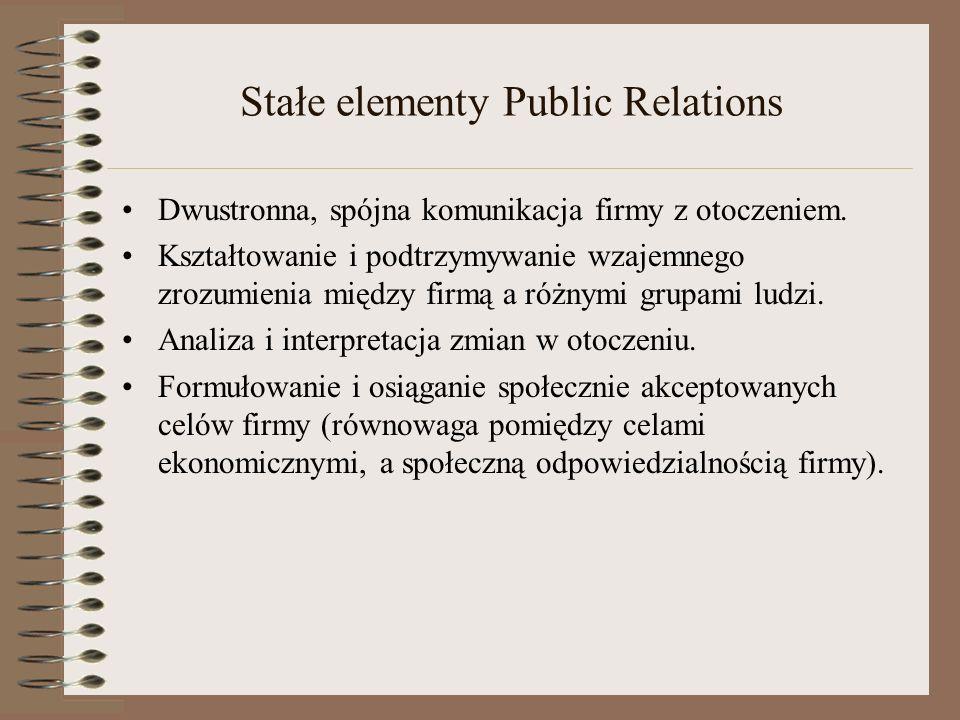 Stałe elementy Public Relations