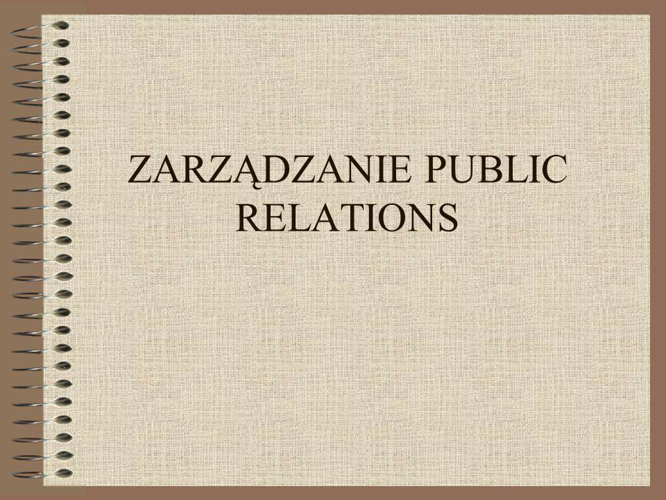 ZARZĄDZANIE PUBLIC RELATIONS