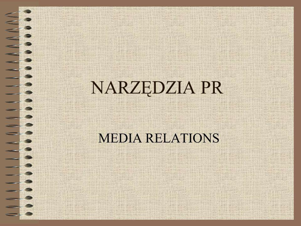 NARZĘDZIA PR MEDIA RELATIONS