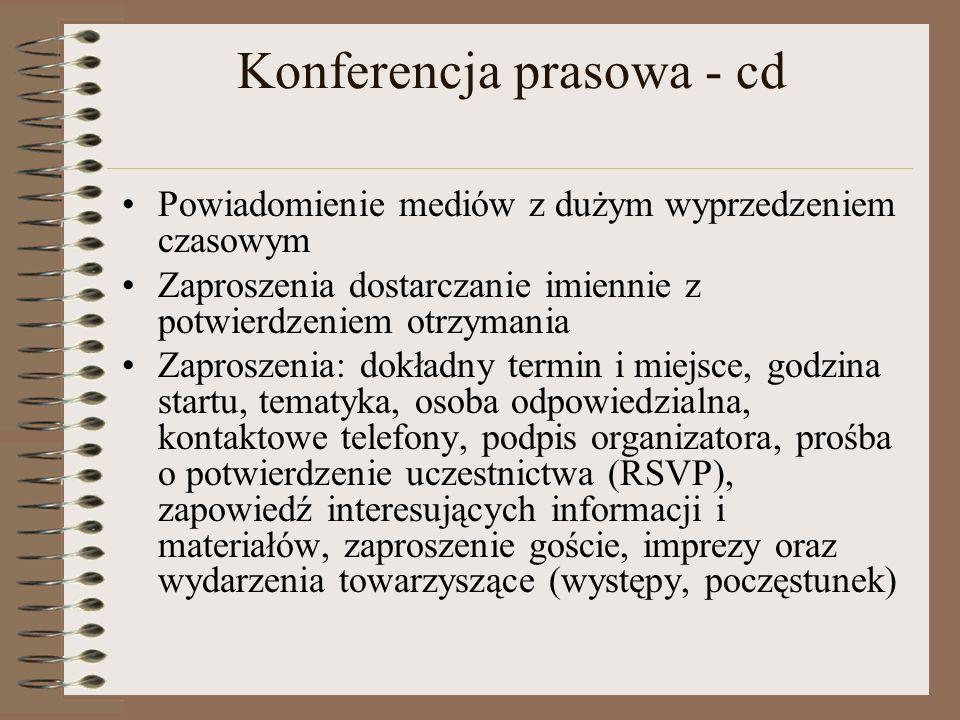 Konferencja prasowa - cd