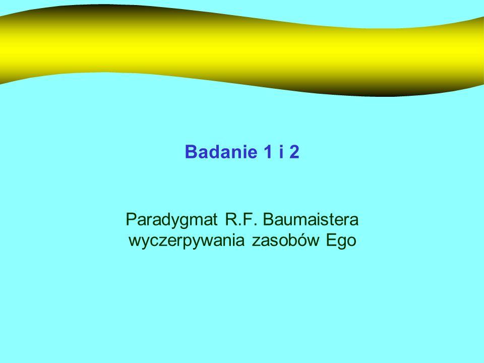 Paradygmat R.F. Baumaistera wyczerpywania zasobów Ego
