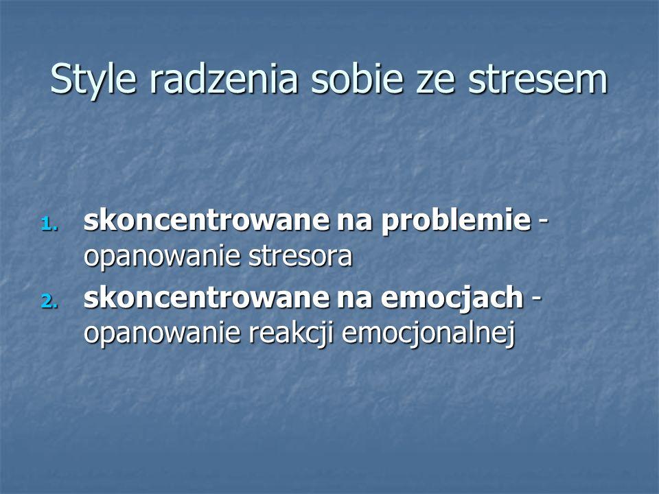 Style radzenia sobie ze stresem