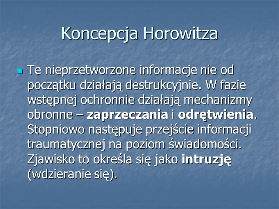 Koncepcja Horowitza