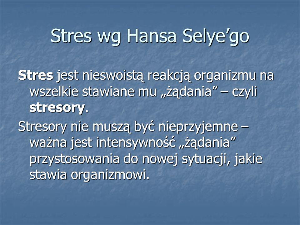 Stres wg Hansa Selye'go