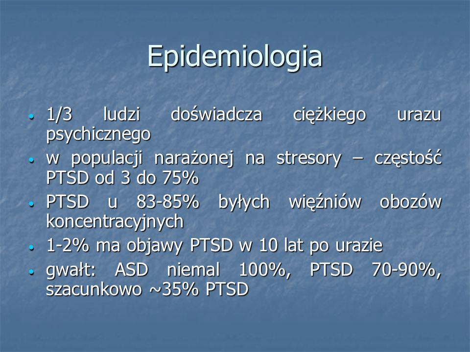 Epidemiologia 1/3 ludzi doświadcza ciężkiego urazu psychicznego