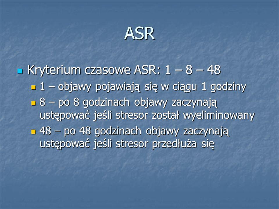 ASR Kryterium czasowe ASR: 1 – 8 – 48