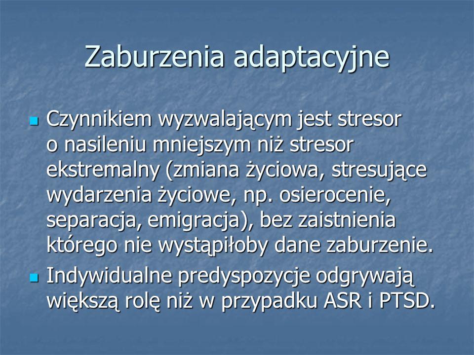 Zaburzenia adaptacyjne