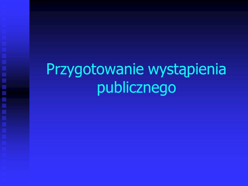 Przygotowanie wystąpienia publicznego