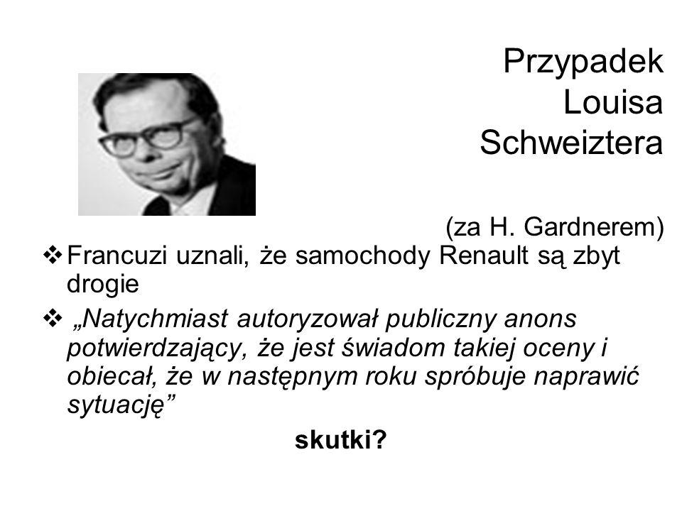 Przypadek Louisa Schweiztera (za H. Gardnerem)