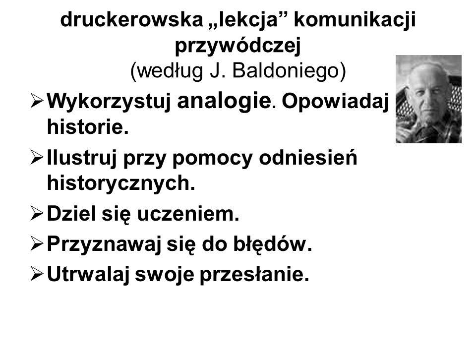 """druckerowska """"lekcja komunikacji przywódczej (według J. Baldoniego)"""