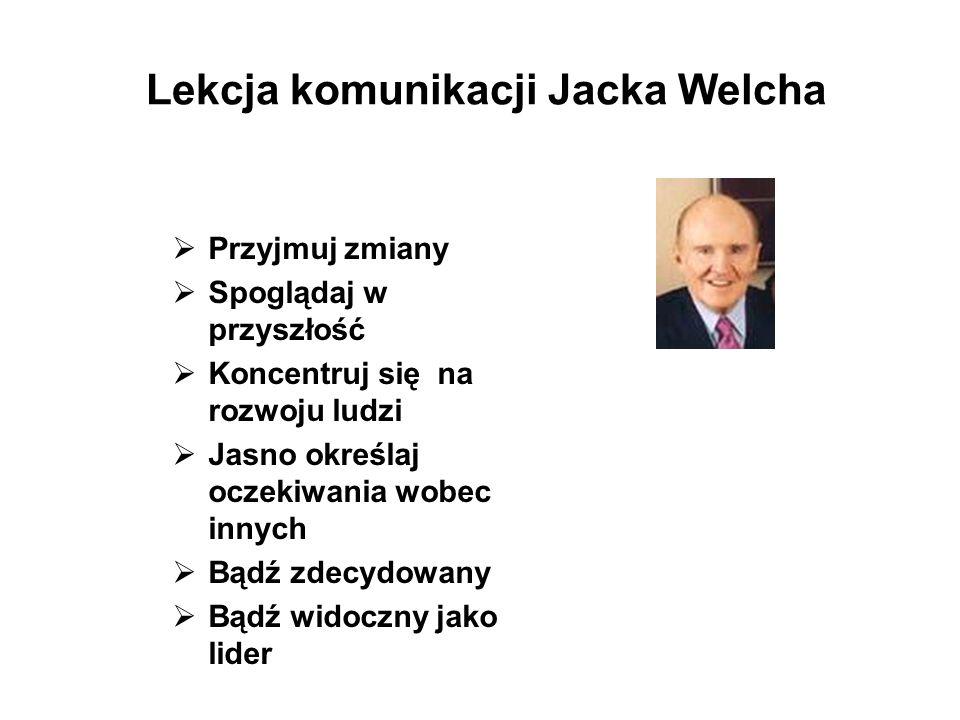Lekcja komunikacji Jacka Welcha