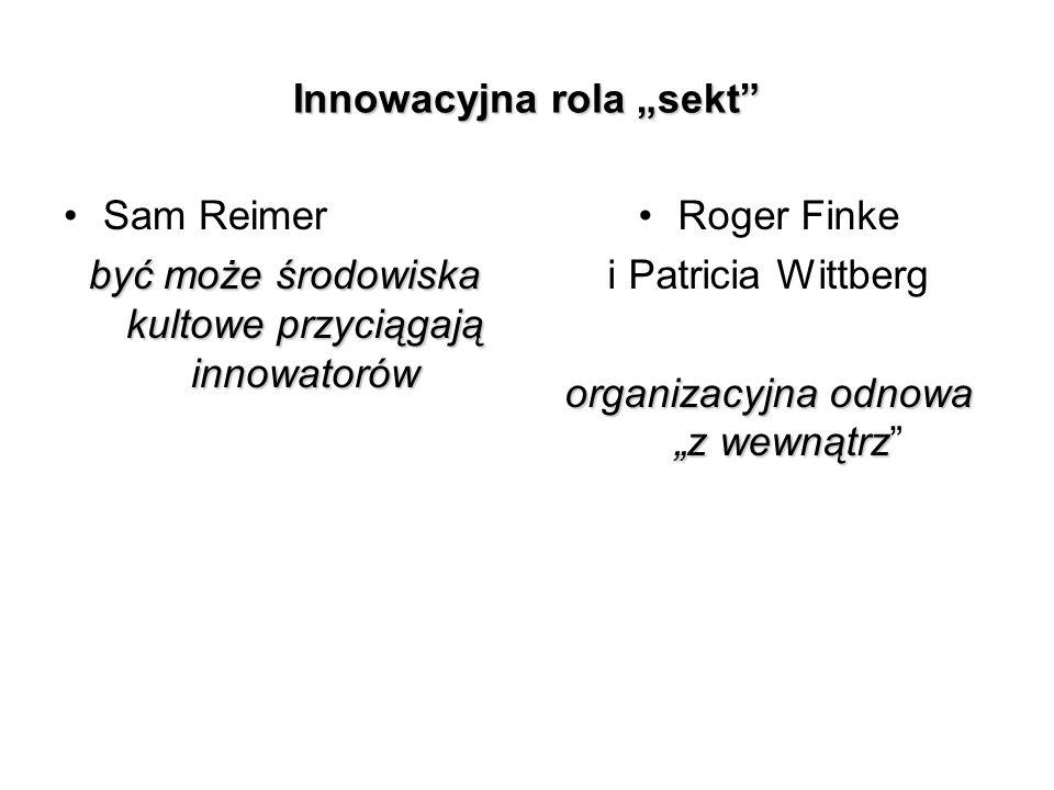 """Innowacyjna rola """"sekt"""