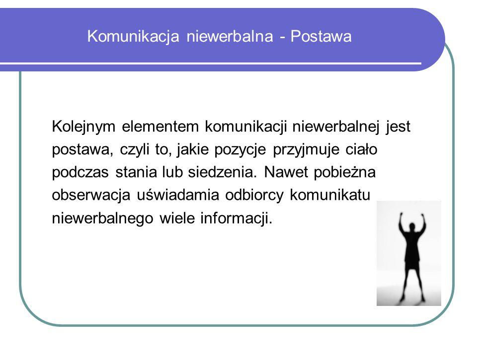 Komunikacja niewerbalna - Postawa