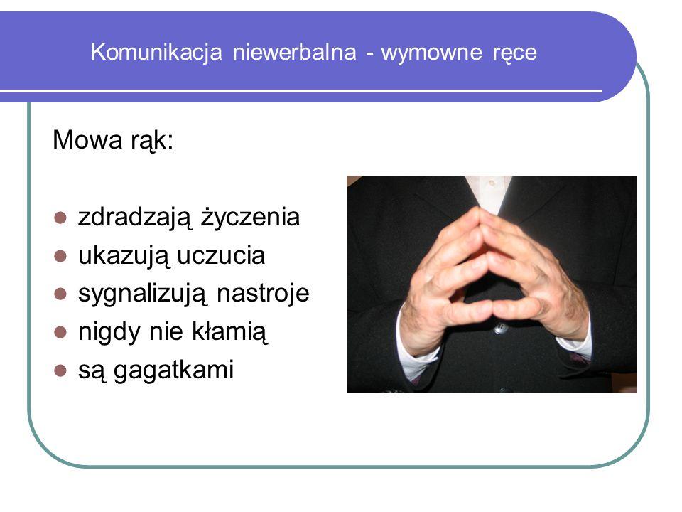 Komunikacja niewerbalna - wymowne ręce