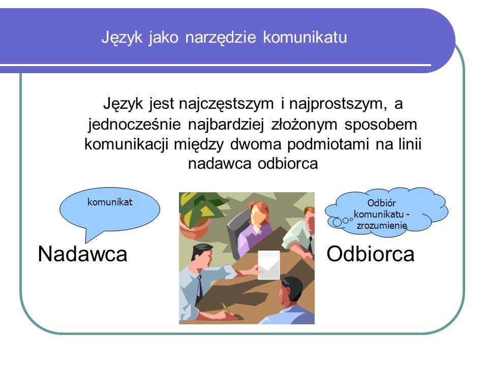 Język jako narzędzie komunikatu